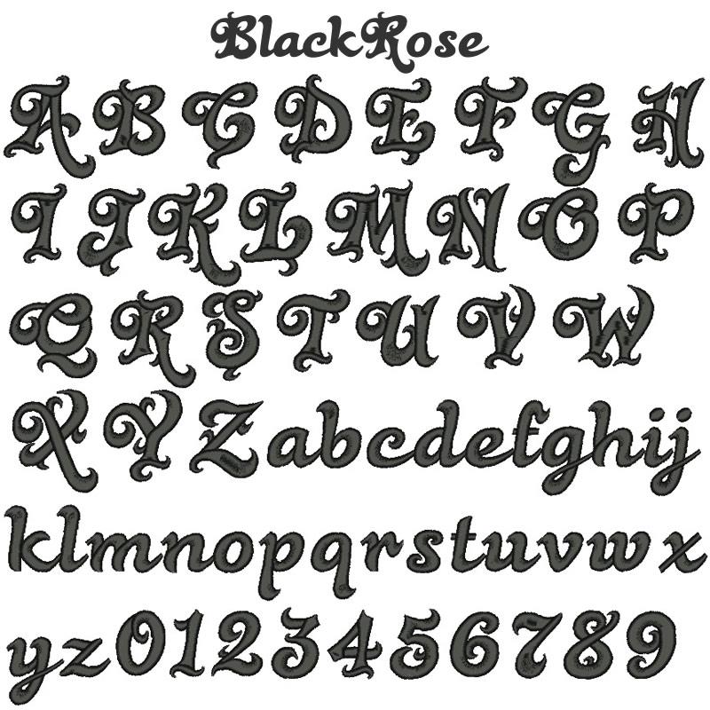 グローバルフォント 無料のタトゥーフォント : 13 BlackRose(ブラックローズ)