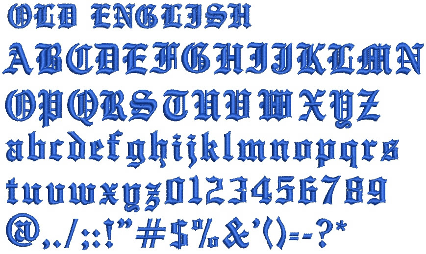 Different Old English Font Styles